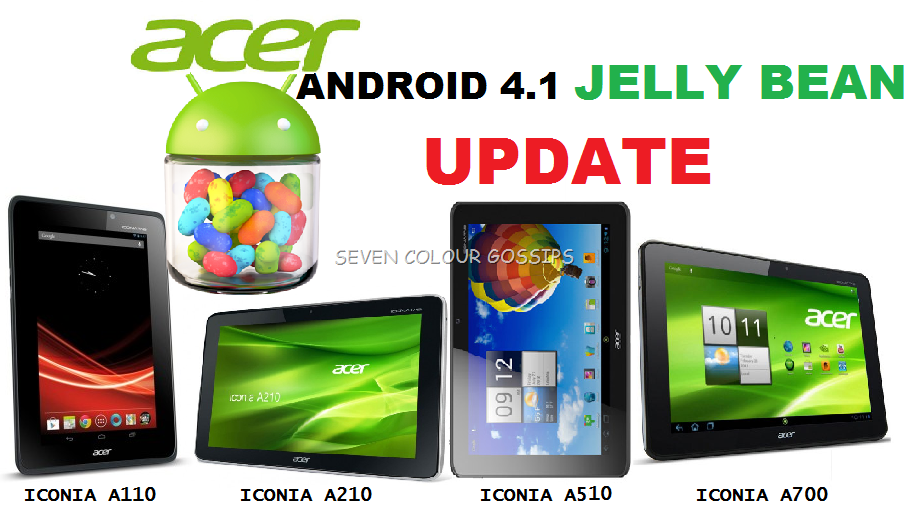 Acer Confirmed Android 41 Jelly Bean Update For Acer Iconia Tab