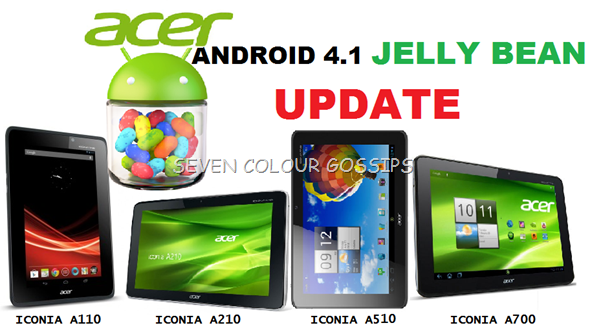 android 4.1 jelly bean update for acer iconia a110, a210, a510 and a700
