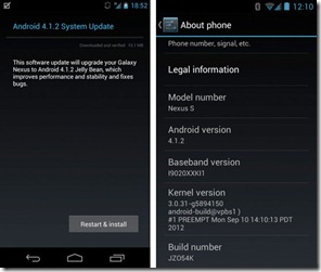 android 4.1.2 google nexus and nexus s