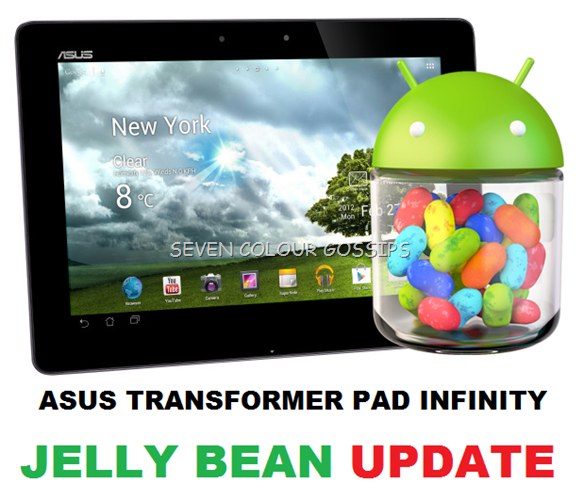 asus transformer pad ifinity jelly bean update