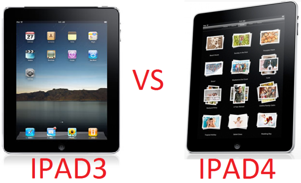 comparison of ipad 3 and ipad 4